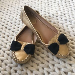 Gold moccasin flats